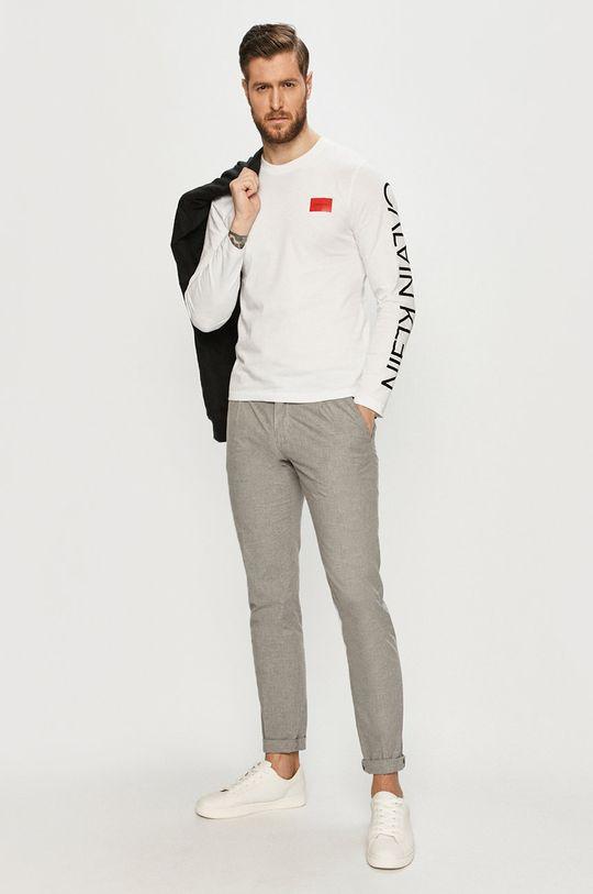 Calvin Klein - Longsleeve biały
