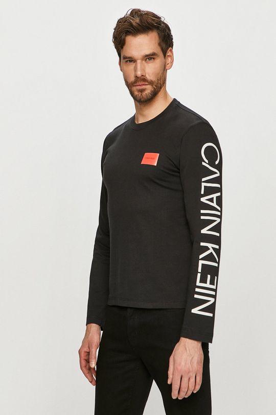 čierna Calvin Klein - Tričko s dlhým rukávom Pánsky