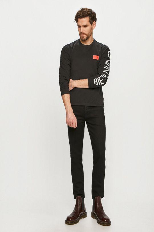 Calvin Klein - Tričko s dlhým rukávom čierna