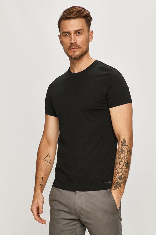 AllSaints - T-shirt (2-pack) czarny