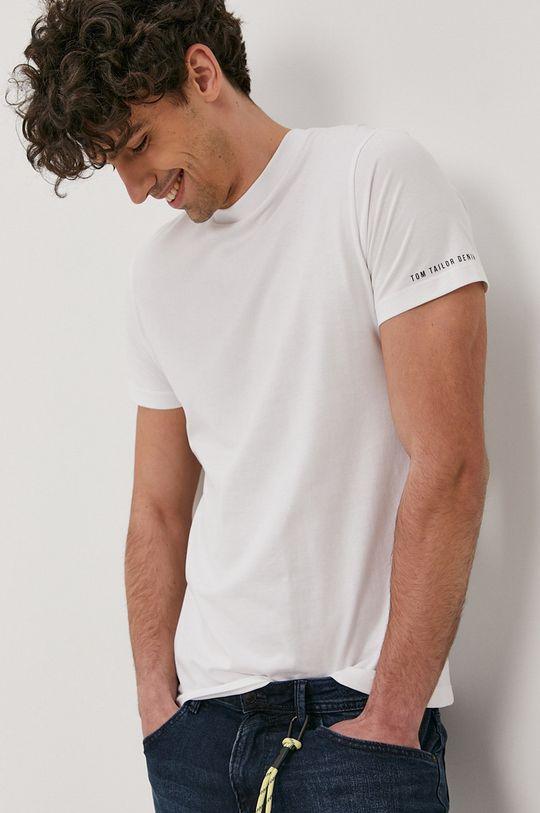 biały Tom Tailor - T-shirt Męski
