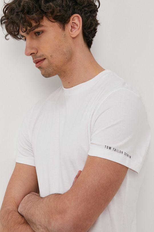 biały Tom Tailor - T-shirt