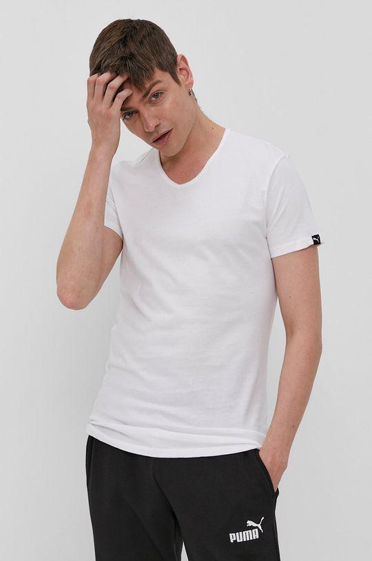 biały Puma - T-shirt (2-pack) Męski