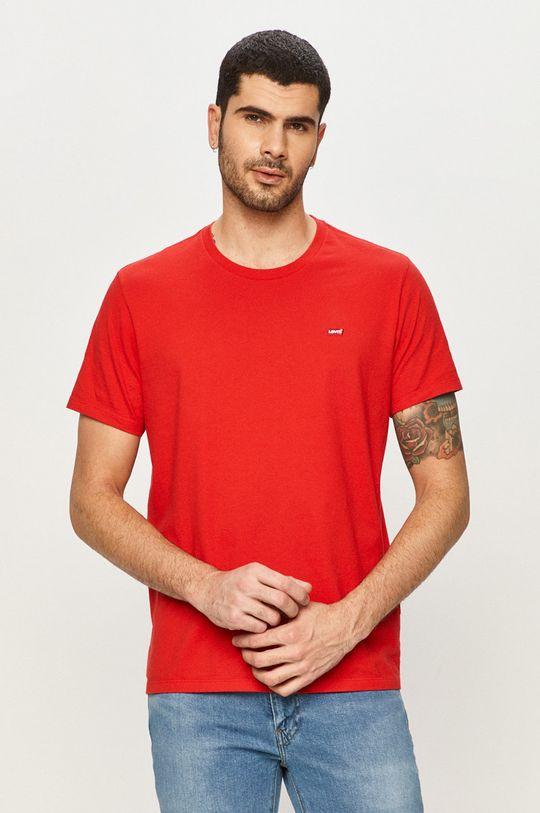 czerwony Levi's - T-shirt Męski