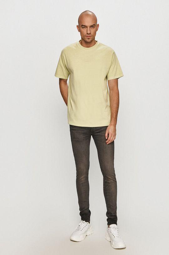 Levi's - Tricou galben – verde