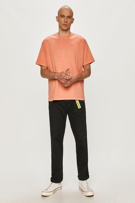Levi's - T-shirt pomarańczowy