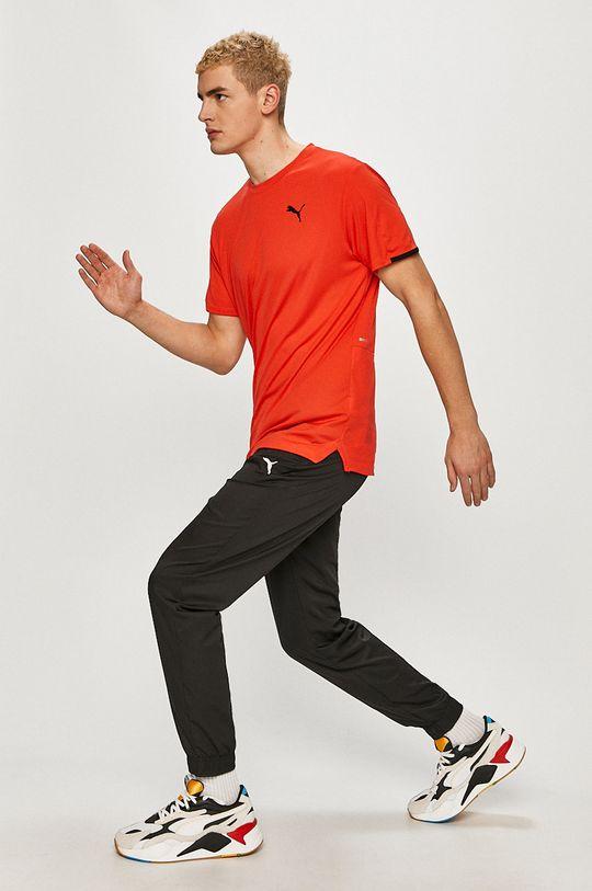 Puma - T-shirt ostry czerwony