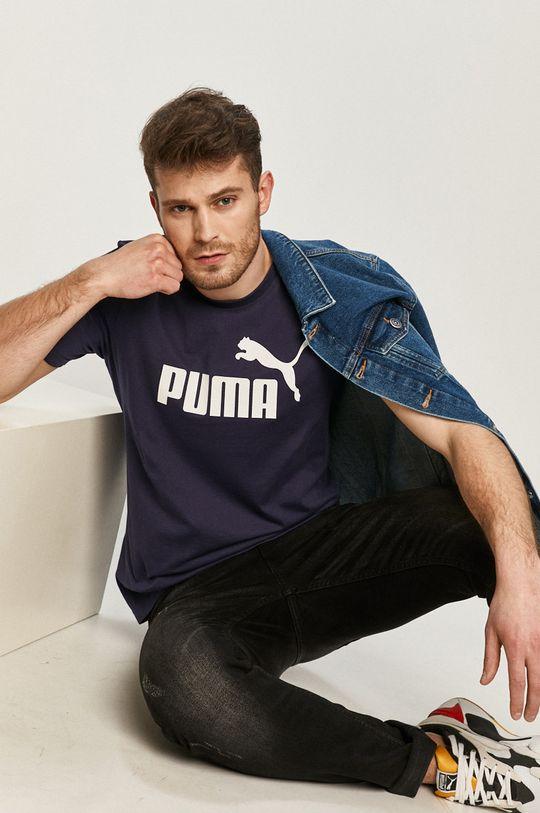 námořnická modř Puma - Tričko Pánský