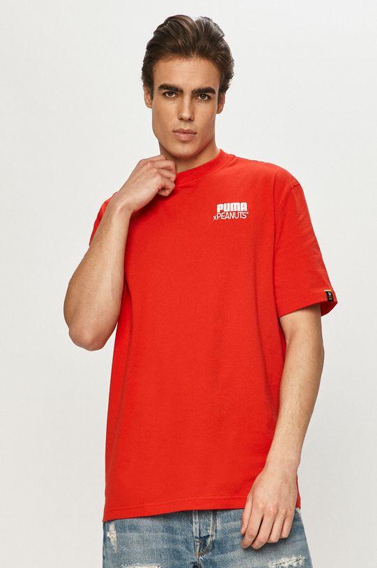 czerwony Puma - T-shirt x Peanuts Męski