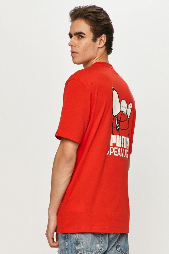 Puma - T-shirt x Peanuts czerwony