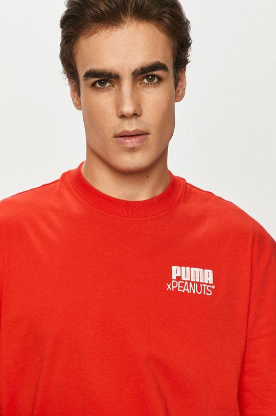 czerwony Puma - T-shirt x Peanuts