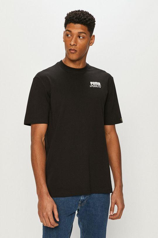 czarny Puma - T-shirt x Peanuts Męski