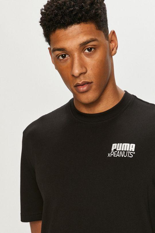 czarny Puma - T-shirt x Peanuts