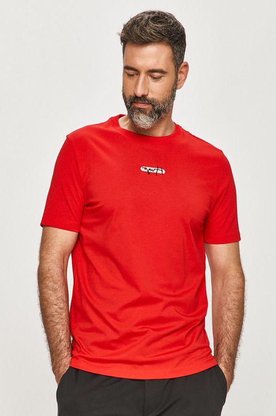 červená Hugo - Tričko Pánský