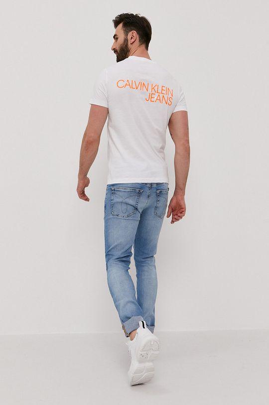 biały Calvin Klein Jeans - T-shirt Męski