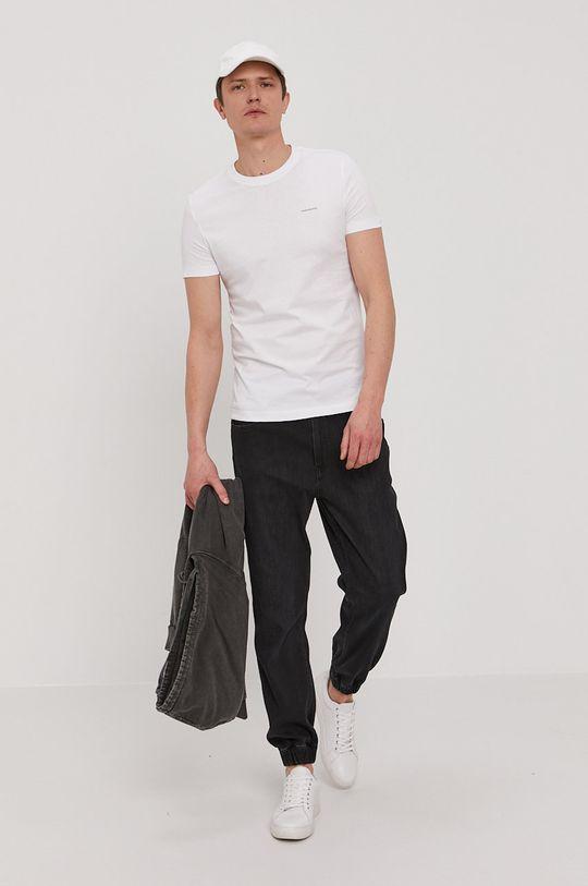 oranžová Calvin Klein Jeans - Tričko (2-pak) Pánsky