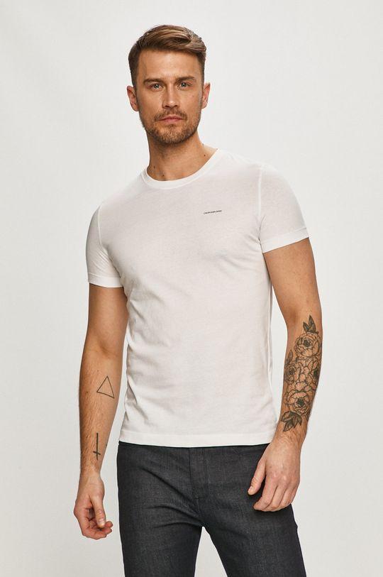 šedá Calvin Klein Jeans - Tričko (2-pack) Pánský