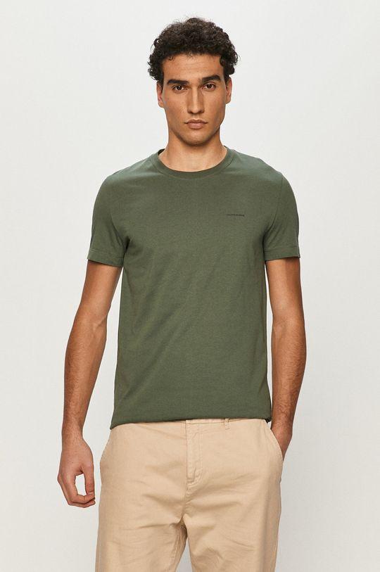 tlumená zelená Calvin Klein Jeans - Tričko (2-pack) Pánský