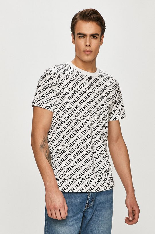 alb Calvin Klein Jeans - Tricou
