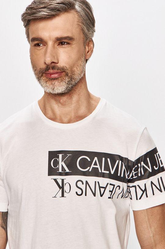 biela Calvin Klein Jeans - Tričko