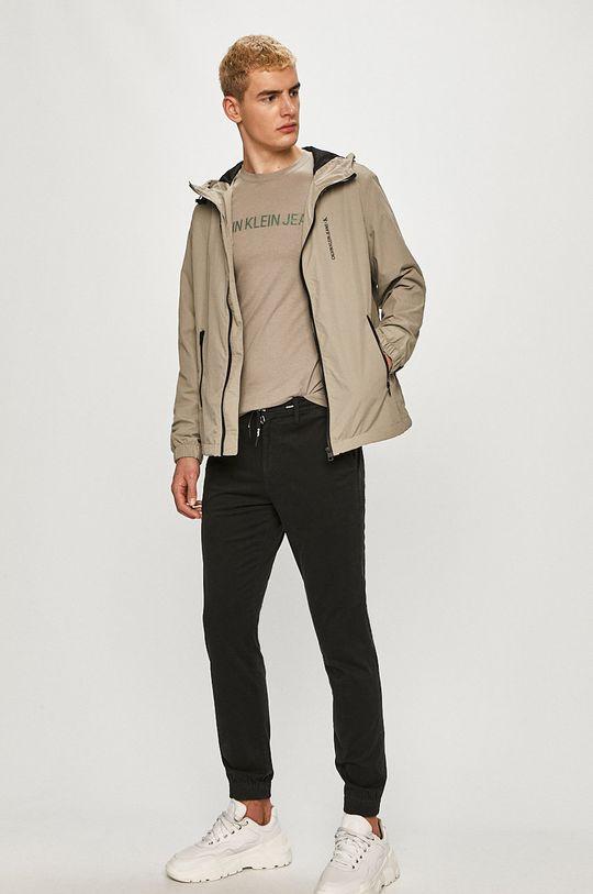 Calvin Klein Jeans - Tričko písková