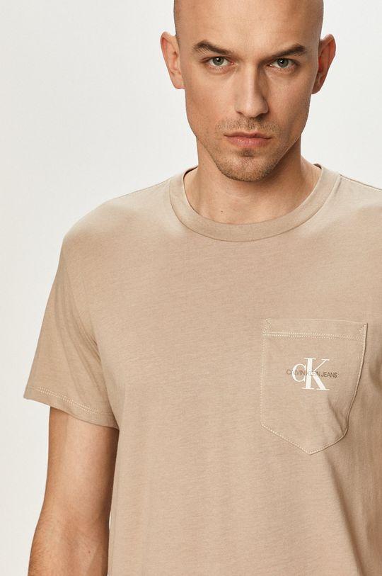 sivá Calvin Klein Jeans - Tričko Pánsky