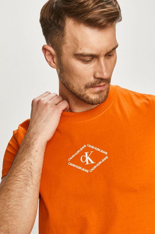 oranžová Calvin Klein Jeans - Tričko