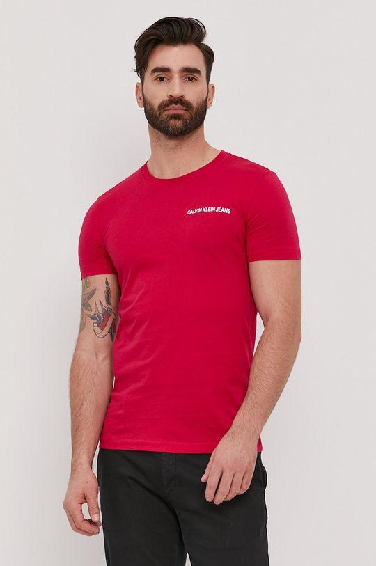 růžová Calvin Klein Jeans - Tričko