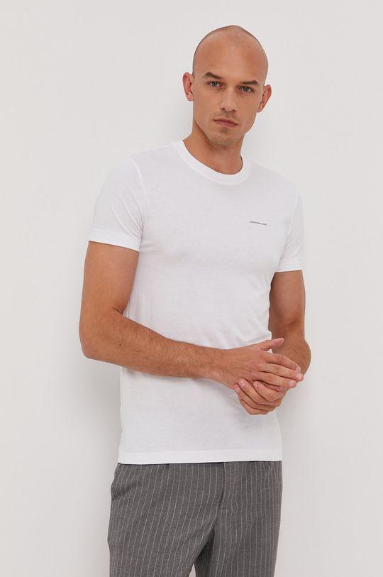 bílá Calvin Klein Jeans - Tričko (2-pack) Pánský