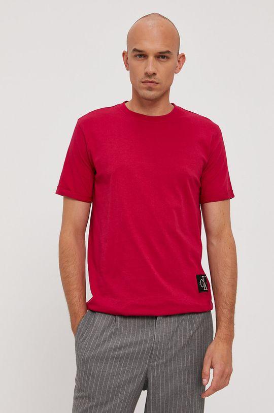 ostrá růžová Calvin Klein Jeans - Tričko Pánský
