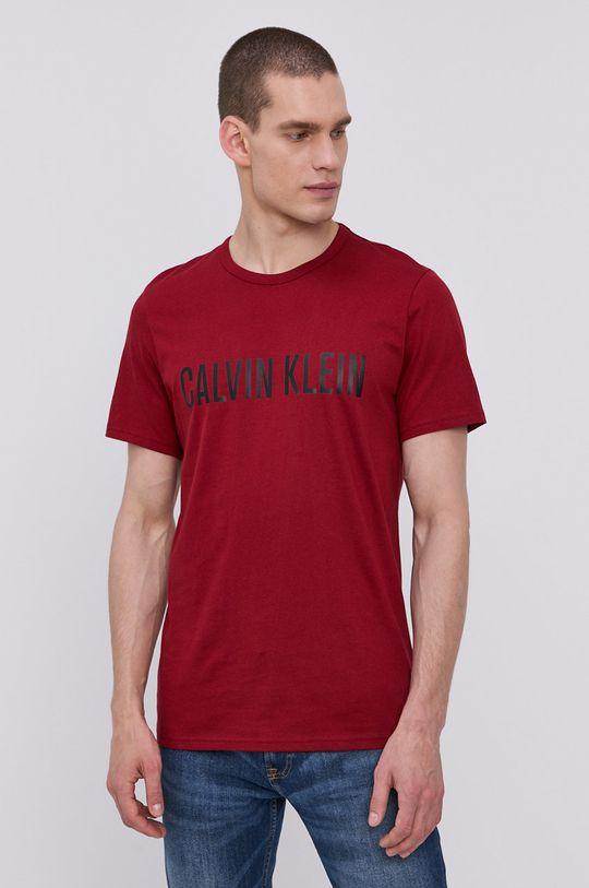 kaštanová Calvin Klein Underwear - Pyžamové tričko Pánský