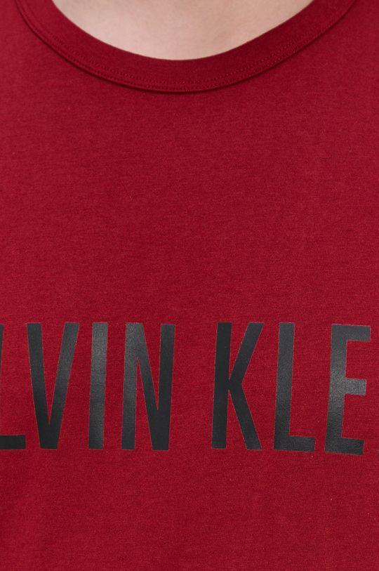 kaštanová Calvin Klein Underwear - Pyžamové tričko