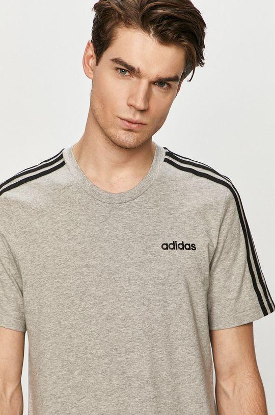 světle šedá adidas - Tričko Pánský