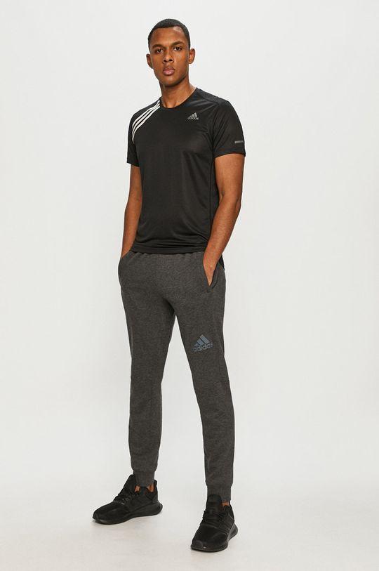 adidas Performance - Tricou negru