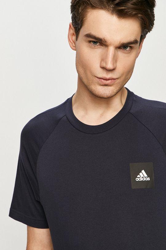 námořnická modř adidas Performance - Tričko