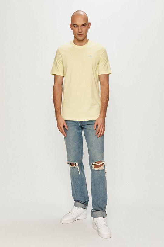 adidas Originals - Tričko žlto-zelená