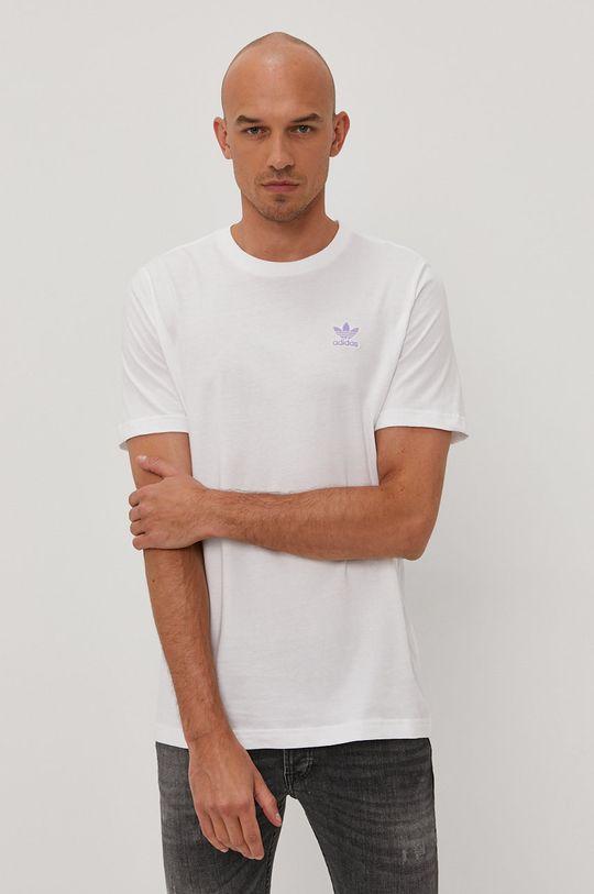 biały adidas Originals - T-shirt