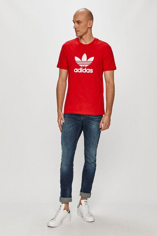 adidas Originals - T-shirt czerwony