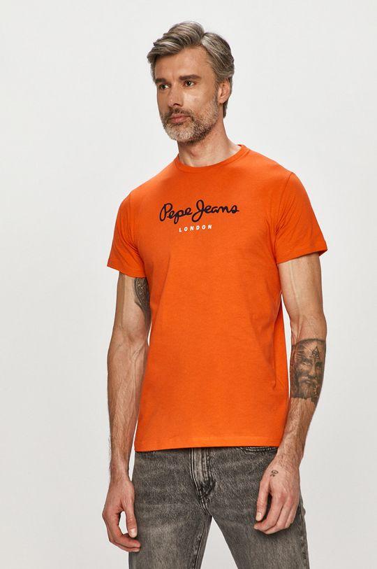 oranžová Pepe Jeans - Tričko Eggo Pánsky