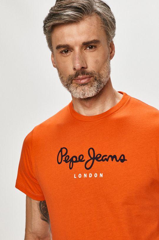 oranžová Pepe Jeans - Tričko Eggo