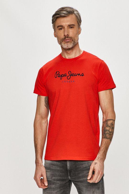 červená Pepe Jeans - Tričko Eggo Pánsky