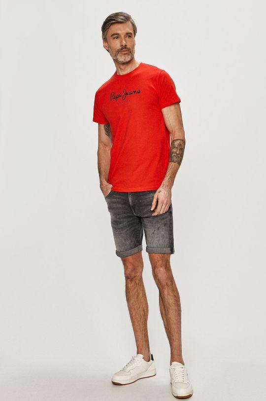 Pepe Jeans - Tričko Eggo červená