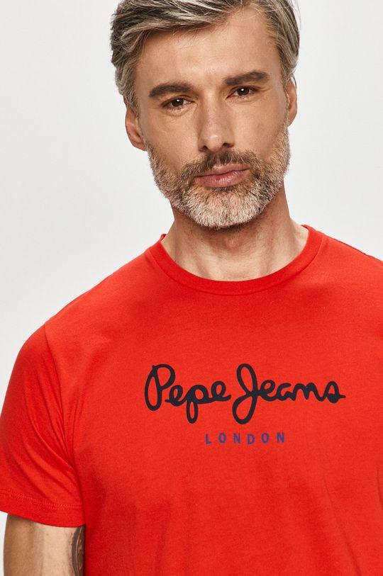 červená Pepe Jeans - Tričko Eggo