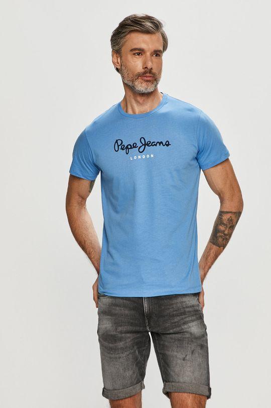 modrá Pepe Jeans - Tričko Eggo Pánský