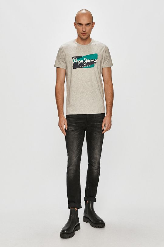 Pepe Jeans - T-shirt Aitor szary