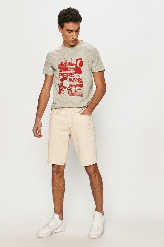Pepe Jeans - T-shirt Dan szary