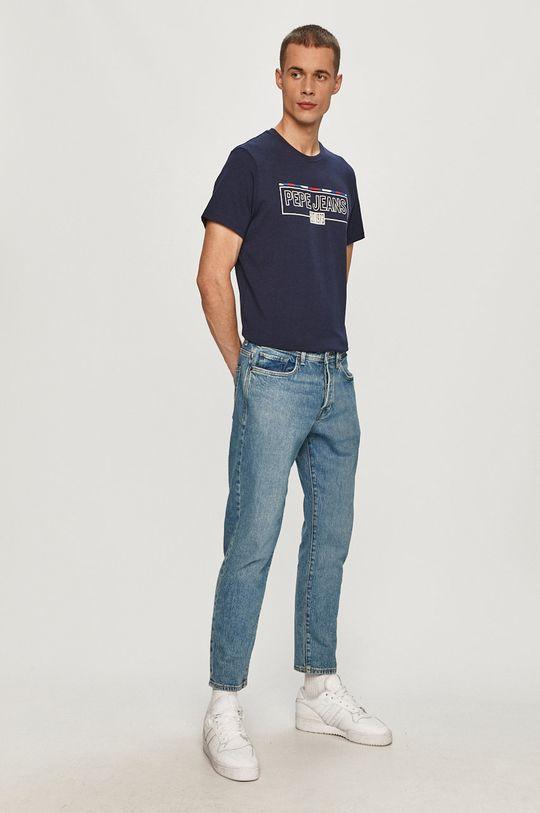 Pepe Jeans - Tričko Dennis námořnická modř