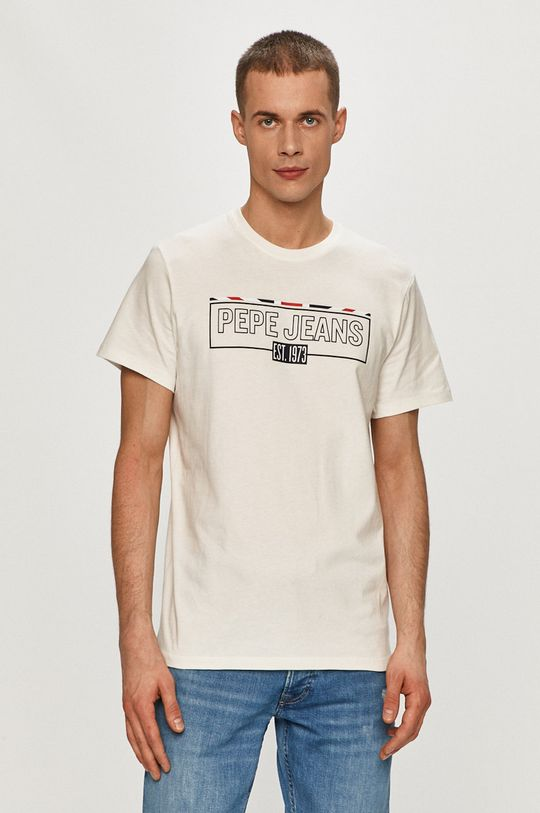 biały Pepe Jeans - T-shirt Dennis Męski