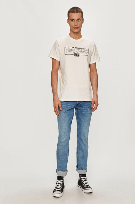 Pepe Jeans - Tričko Dennis bílá