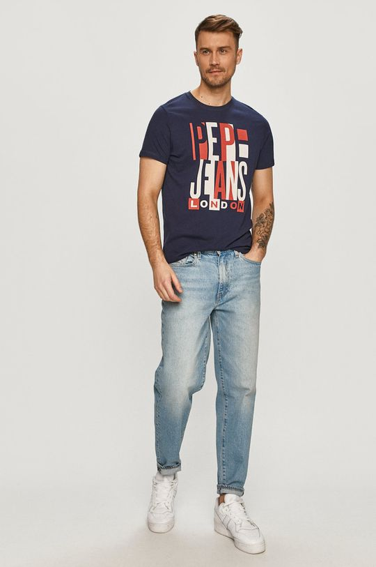 Pepe Jeans - T-shirt Davy granatowy